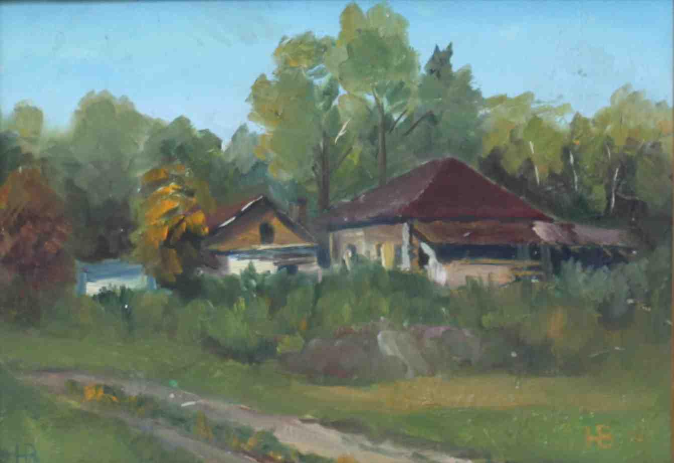 2013. Деревня Ключи. Оргалит. м. 20 х30