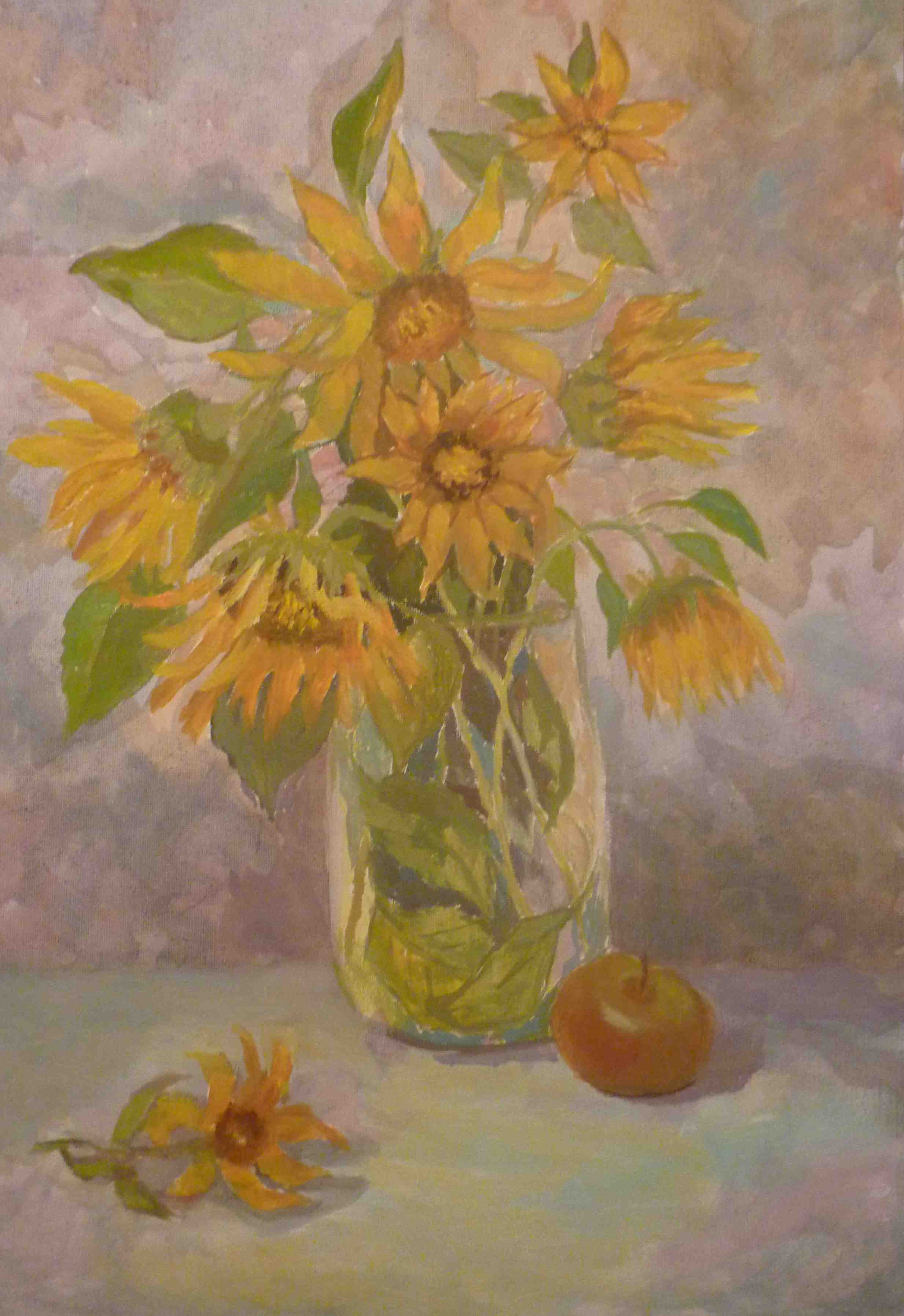 2013. Желтые цветы. Х.м. 35х50