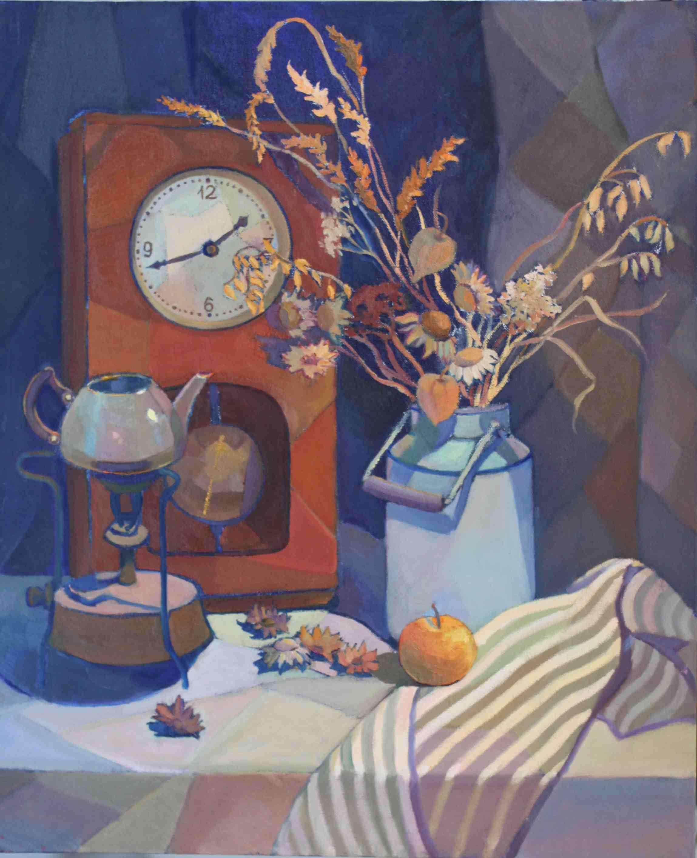 2016.Старые часы. Х.м, 50х60.