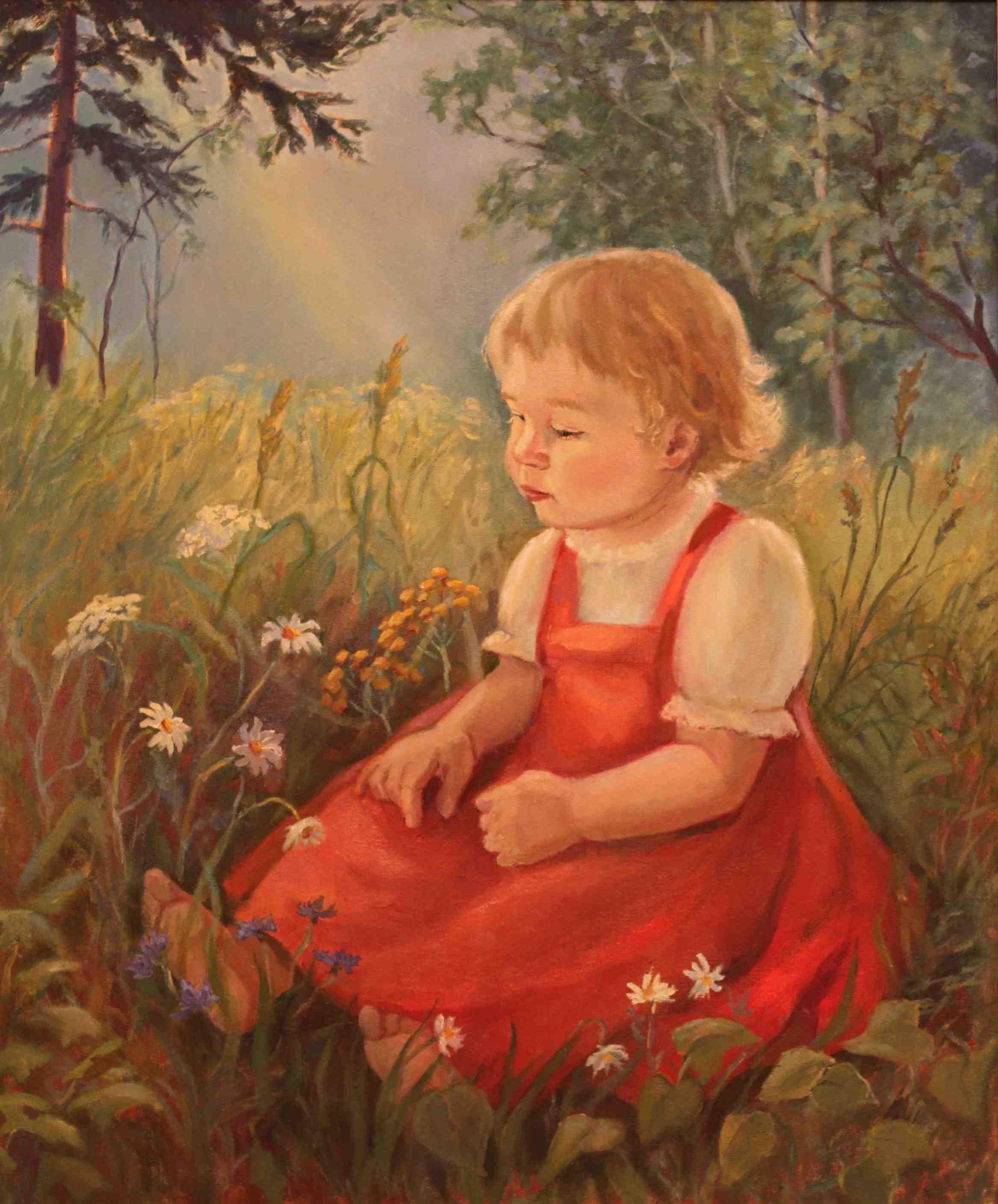 2016. Девочка в лесу. Х.м. 50х60