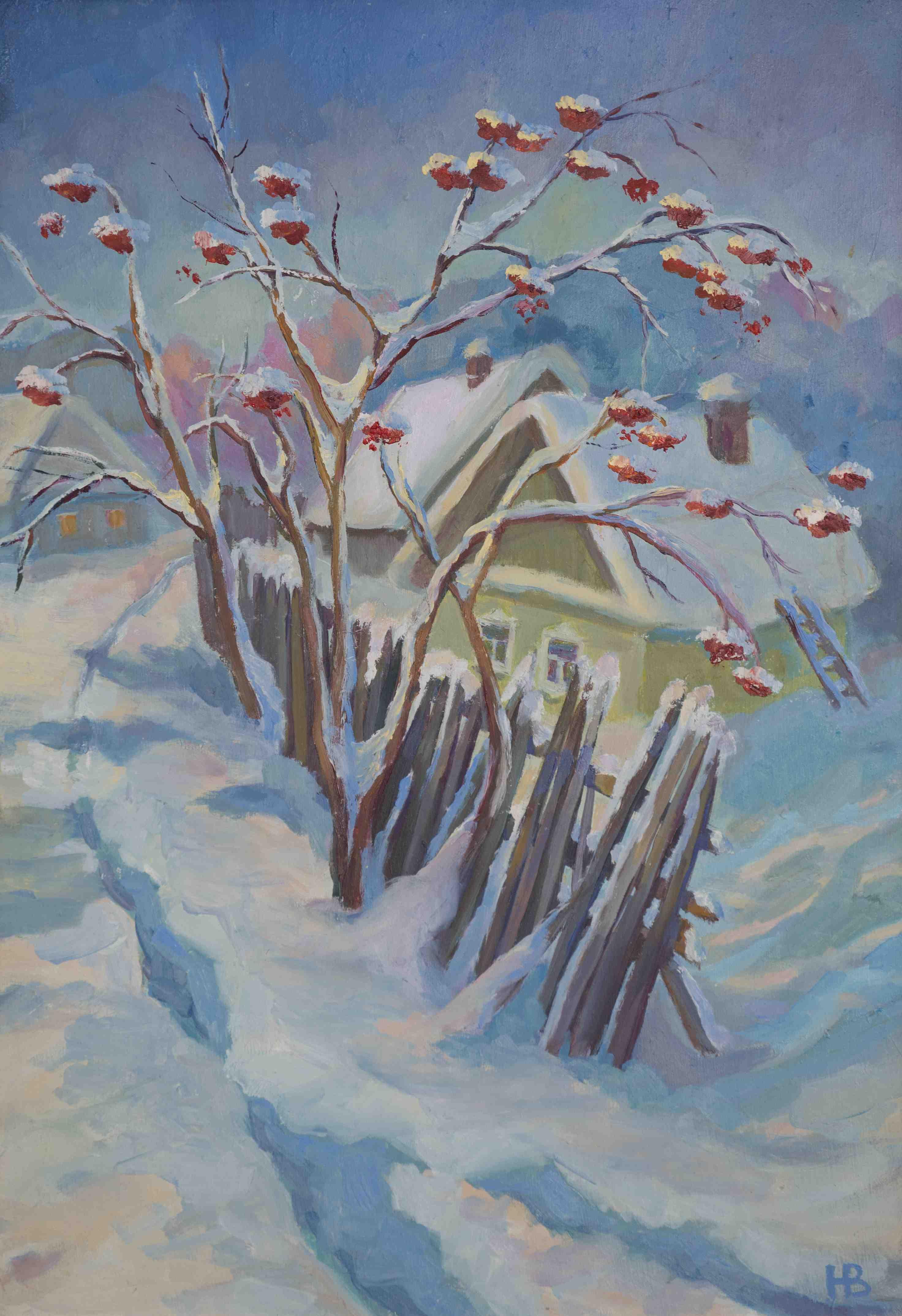 2016. Зимняя рябина. Оргалит, м. 35х50