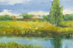 2013. Деревня Ключи. Х.м. 22х28