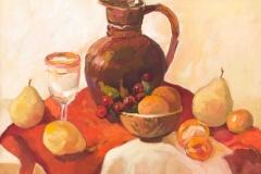 2013. Натюрморт с грушами. Оргалит, м. 40х50