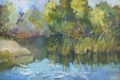 2013. Озеро в Ельцовке. Х.м. 30х40