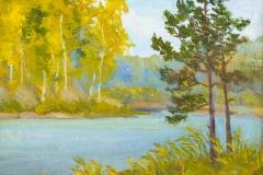 2014. Озеро на Каинке. Картон. м. 22х34