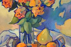 2016. Желтые розы. Х.м. 30х40