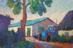 2021.Синий-трактор.-Х.м.-50х60